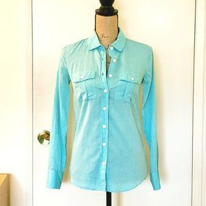 J. Crew The Perfect Shirt in Turquoise